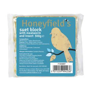 Honeyfields Suet Blocks Mealworm & Insect 4 Pack