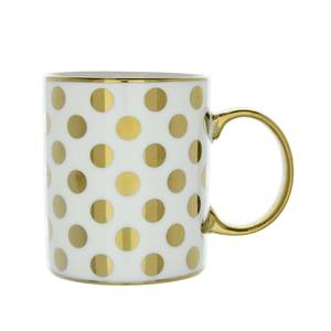 New Bone Mug in Spotty Gold Design