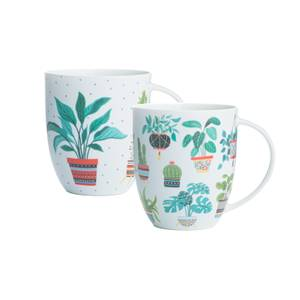 Price & Kensington Plants Assorted  Bone China Mugs