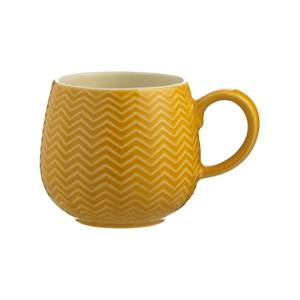 Mason Cash Embossed Chevron Ochre Mug