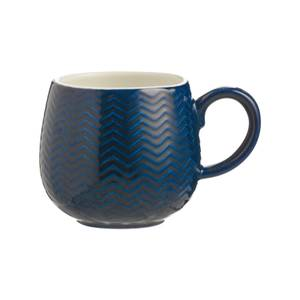Mason Cash Embossed Chevron Navy Mug