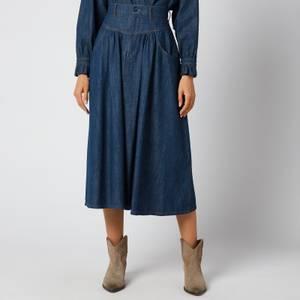 See by Chloé Women's Midi Denim Skirt - Denim