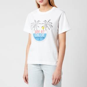 See by Chloé Women's Summer Tour On Cotton Jersey T-Shirt - White