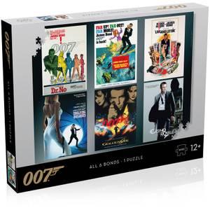 James Bond Actor Debut Posters 1000 piece Jigsaw Puzzle