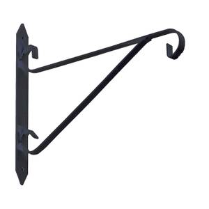 Hanging Basket Bracket - Black - 170x200mm