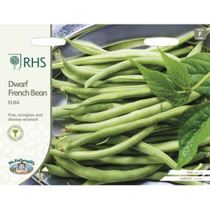 RHS French Bean Elba Seeds