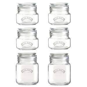 Kilner Push Top Square 6 Pieces Jar Set