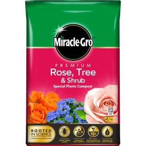 Miracle Gro Premium Rose Tree Shrub Compost - 40L