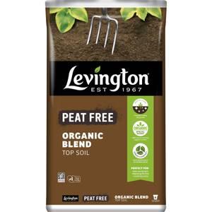 Levington Peat Free Organic Blend Top Soil - 20L