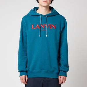Lanvin Men's Embroidered Hoodie - Indigo