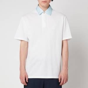 Lanvin Men's Short Sleeve Polo Shirt - Optic White