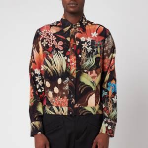 Lanvin Men's Silk Blouson Shirt - Multi