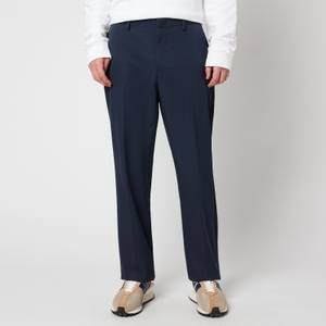 Lanvin Men's Side Bands Straight Pants - Midnight Blue