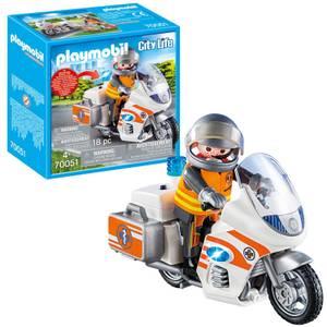 Playmobil City Life Hospital Emergency Motorbike with Flashing Light (70051)