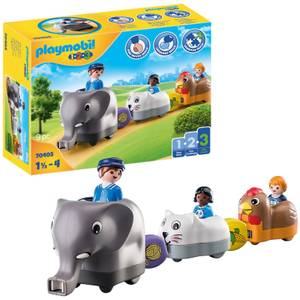 Playmobil 1.2.3 Animal Train For 18+ Months (70405)