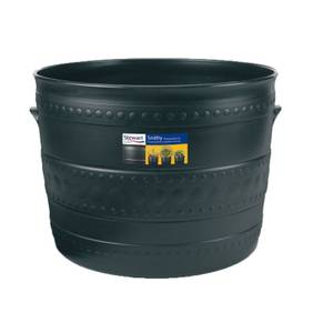 Plastic Patio Tub in Black - 50cm