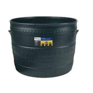 Plastic Patio Tub in Black - 50cm