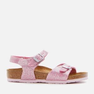 Birkenstock Rio Plain Sandals - Cosmic Sparkle Candy Pink