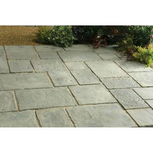 Stylish Stone Belfrey Paving Patio Kit 5.76sq m - Rustic Sage