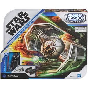 Hasbro Star Wars Mission Fleet Stellar Class Darth Vader TIE Advanced Action Figure