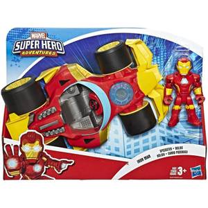 "Hasbro Playskool Heroes Marvel Super Hero Adventures Black Panther Road Racer 5"" Action Figure and Vehicle"