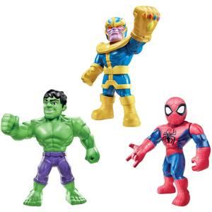 Hasbro Playskool Heroes Marvel Super Hero Adventures Mega Mighties 25cm Action Figure 3 Pack