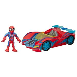 "Hasbro Playskool Heroes Marvel Super Hero Adventures Spider-Man Web Racer 5"" Figure and Vehicle"