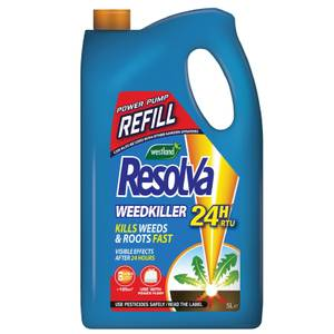 Resolva 24H Weedkiller Ready To Use Power Pump Refill - 5L