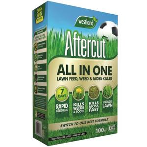 Aftercut All In One Lawn, Feed, Weed and Moss Killer - 100m2