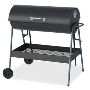 Texas Double Cooking Oil Drum Charcoal BBQ