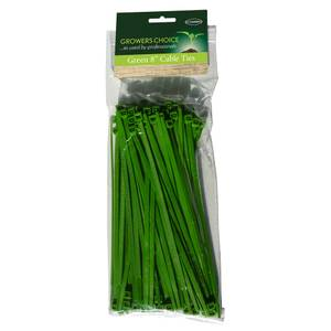 Green 8inch Cable Ties Pack 100