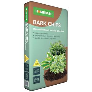 Homebase Bark Chips - 100L Bag