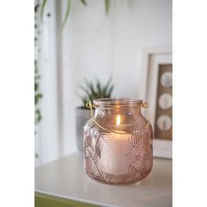 Lifestyle Pink Glass Garden Lantern
