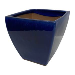 Chiswick Square Imperial Terracotta Pot in Blue - 38cm