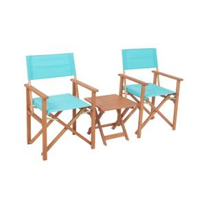 Homebase Directors Chair Bistro Set - Blue
