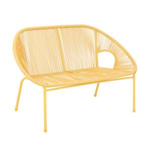 Homebase Acapulco 2 Seater Garden Bench - Yellow
