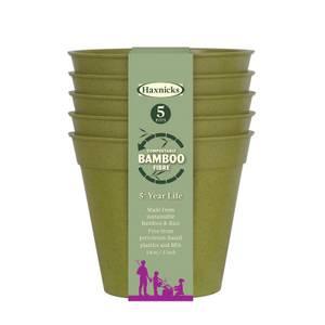 5 Bamboo Pot - Sage Green (5 Pack)