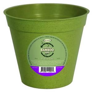 8in Bamboo Pot Single Sage Green