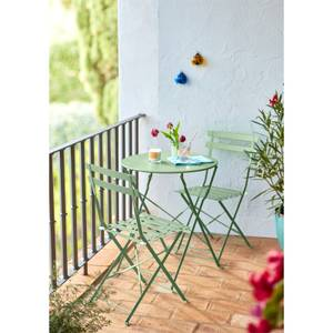 Lazio Metal Bistro Set in Green