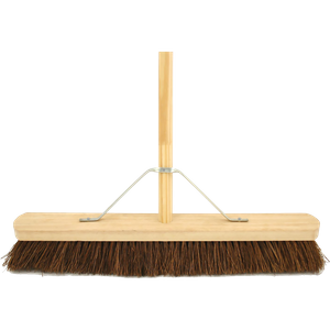 600mm Stiff Bassine Wooden Broom