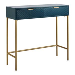 Trixie 2 Drawer Console Desk - Blue