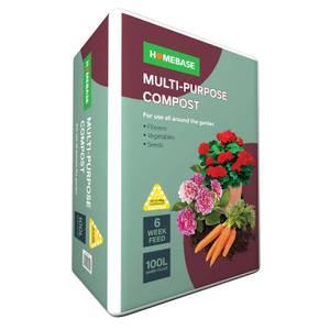 Homebase Multi Purpose Compost - 100L