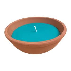 Biteshield Candle Citronella Tc Dish - Blue Wax