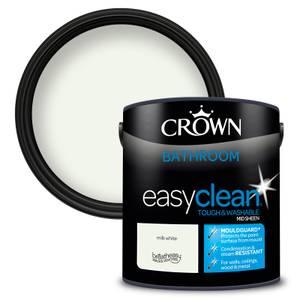 Crown Easyclean Bathroom Paint Milk White 2.5 L