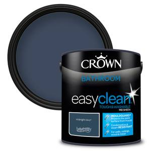 Crown Easyclean Bathroom Paint Midnight Navy 2.5 L