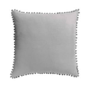 Country Living Linen Pom Pom Cushion - 50x50cm - Country Grey