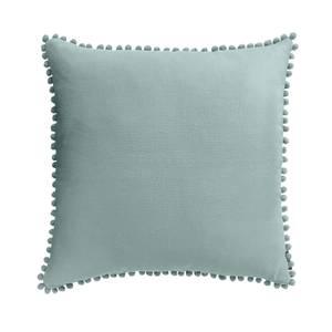 Country Living Linen Pom Pom Cushion - 50x50cm - Duck Egg