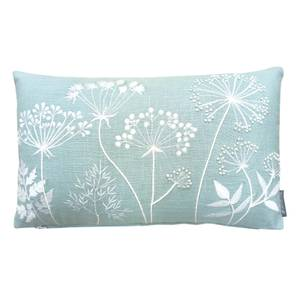 Country Living Meadow Embroidered Cushion - 30x50cm - Duck Egg