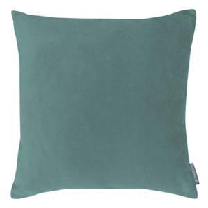Country Living Velvet Linen Cushion - 45x45cm - Duck Egg