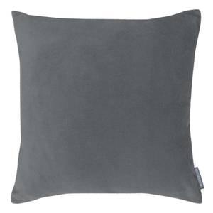 Country Living Velvet Linen Cushion - 45x45cm - Warm Grey